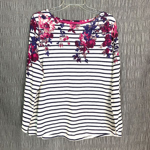 Soft Surroundings sz xl floral striped blouse